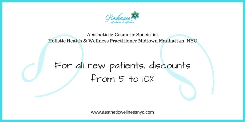 Discount for NEW Patients from Radiance Aesthetics & Wellness