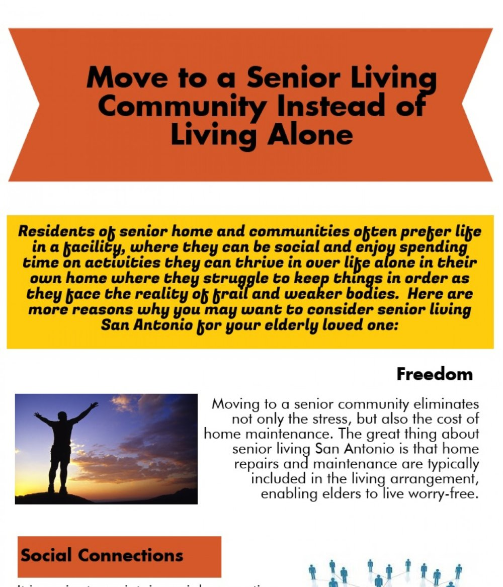 Move to Senior Living Community Instead of Living Alone