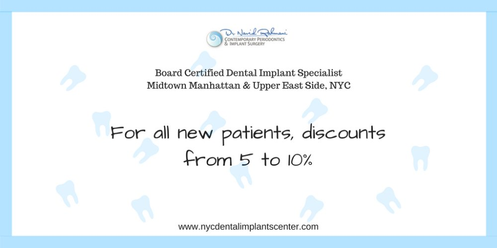 Discount for NEW Patients from NYC Dental Implants Center