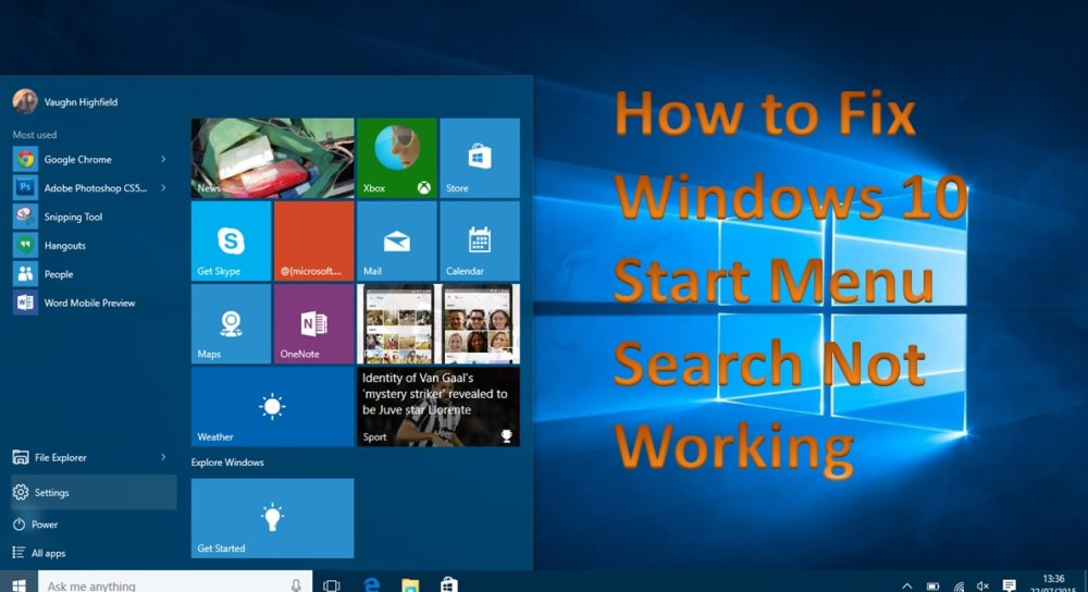 How to Fix Windows 10 Start Menu Search Not Working