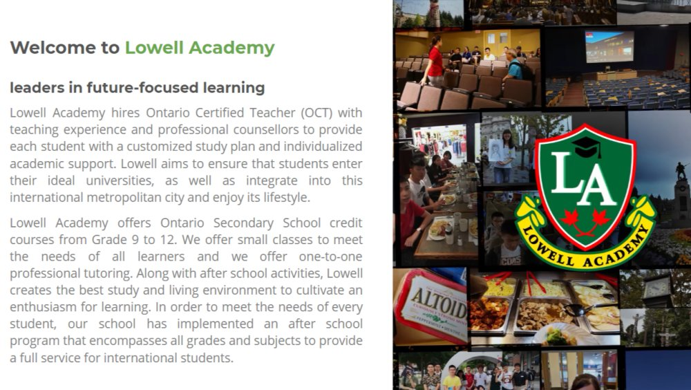 Lowell Academy (IELTS Test Venue)