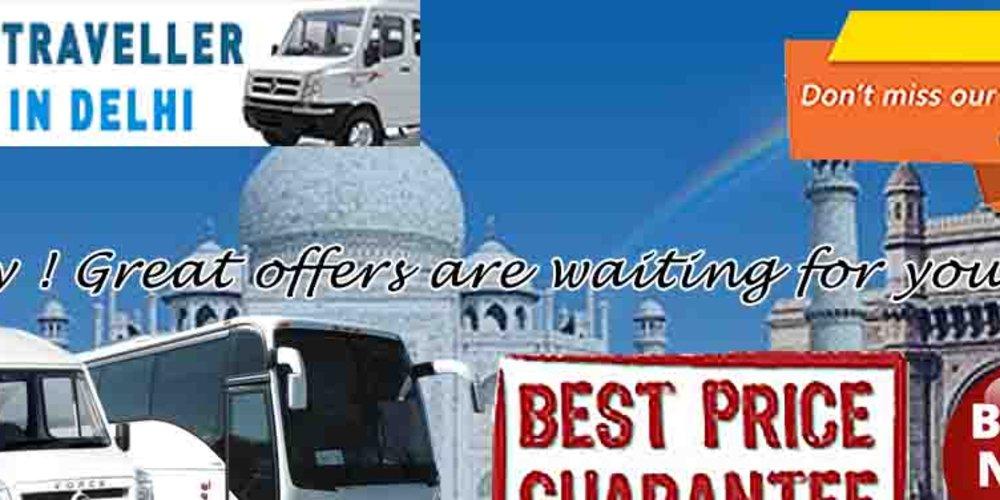 16 Seater Tempo Traveller Hire - tempo traveller rent in Delhi