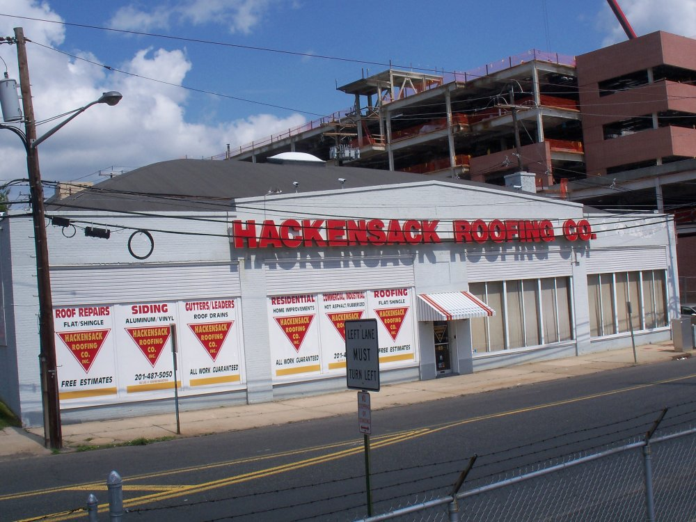 Passing: Hackensack Roofing Building on First Street