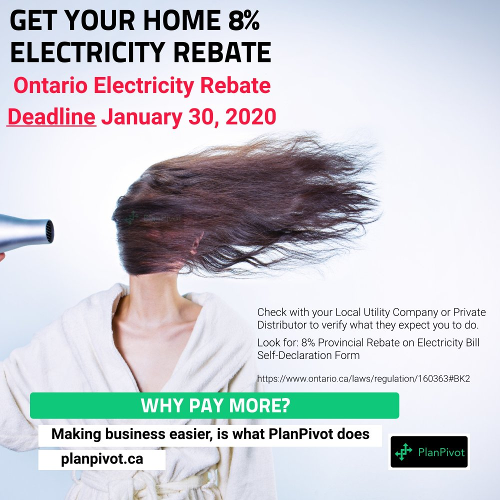 Make sure you get your 8% Electricity Rebate