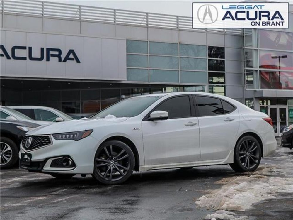 2018 Pre-owned Acura TLX Tech A-Spec $25,989 Acura On Brant, Burlington, ON