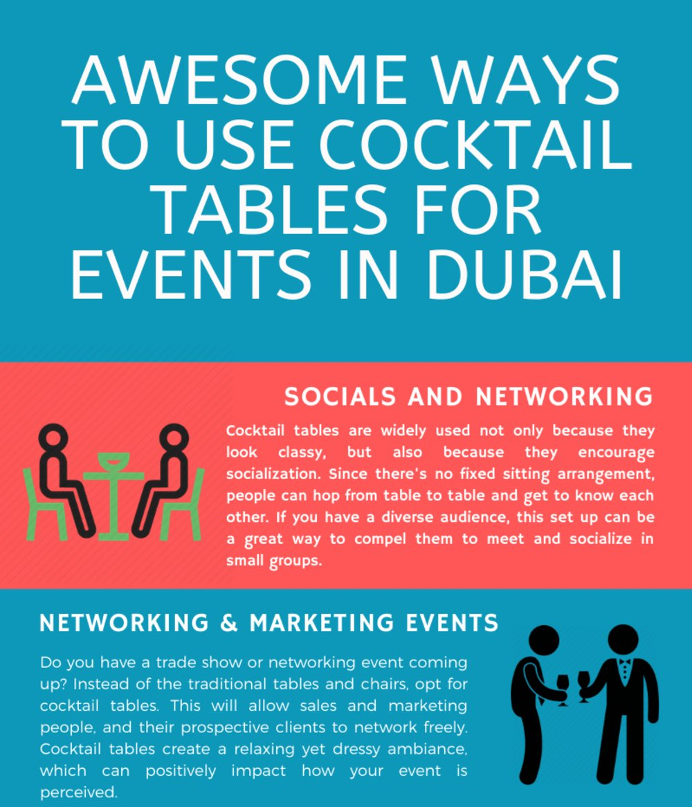 Awesome Ways to Use Cocktail Tables for Events in Dubai