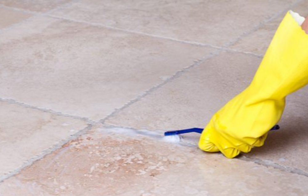 What is the easiest way to clean grout?