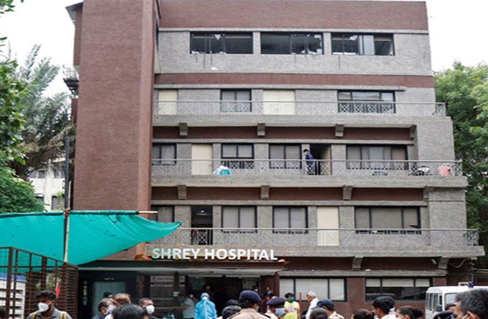 गुजरात: कोविड-19 अस्पताल में लगी आग, 8 मरीजों की मौत