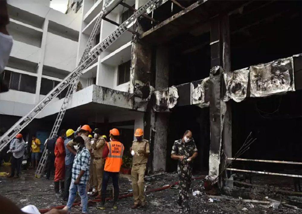 Andhra Pradesh: Terrible fire at Covid Center in Vijayawada, 7 dead so far