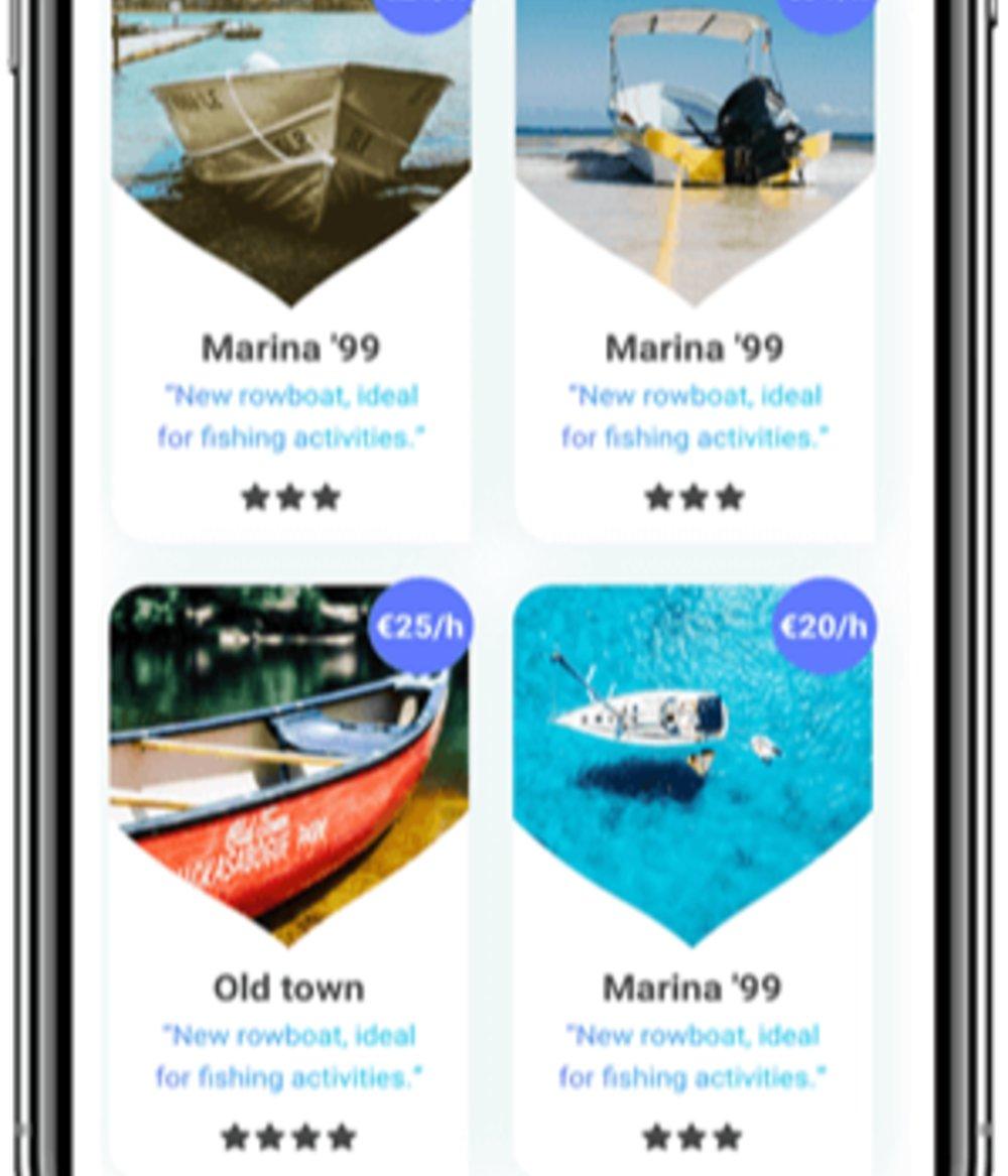Featureful working of a boat rental app