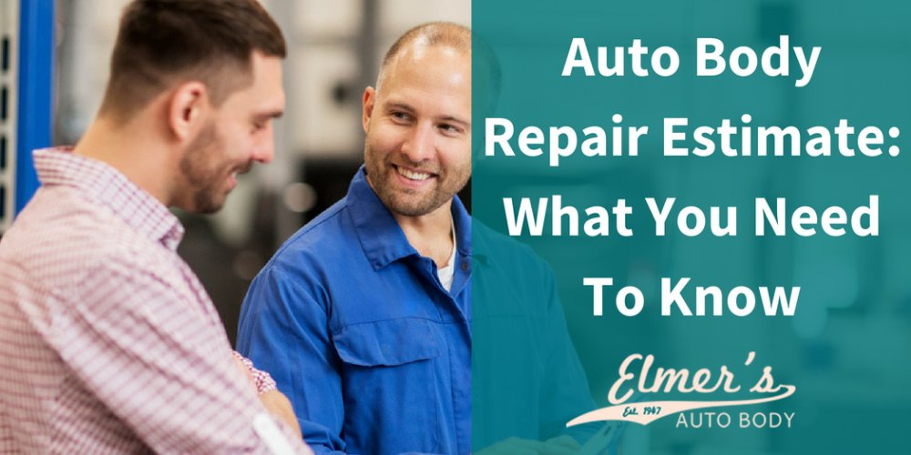 Auto Body Repair Estimate: What You Need To Know