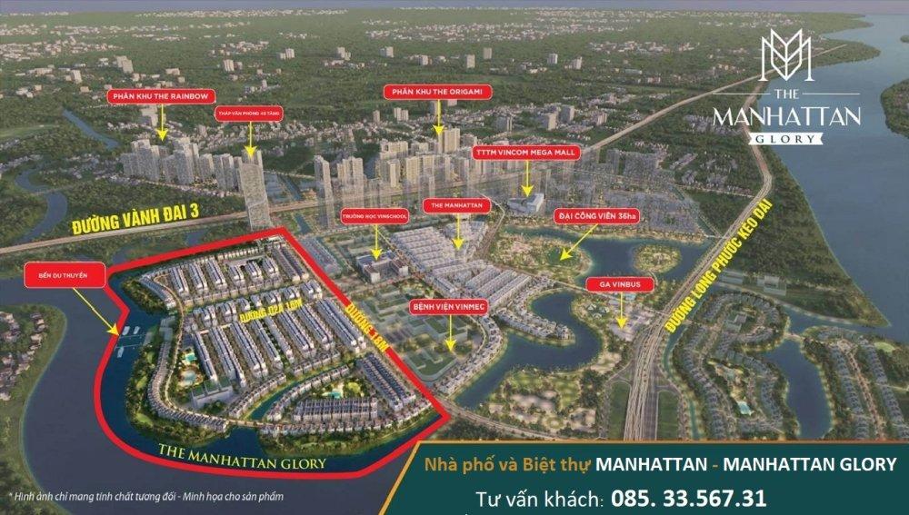 Thông tin nhà phố và biệt thự MANHATTAN vinhomes quận 9