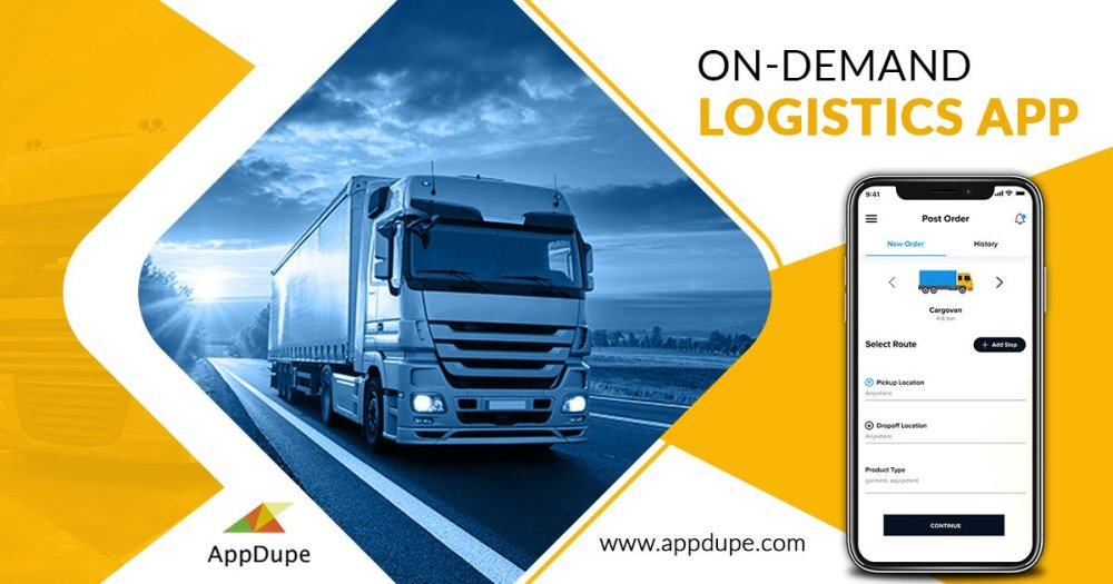 What are the features of the on-demand logistics app?