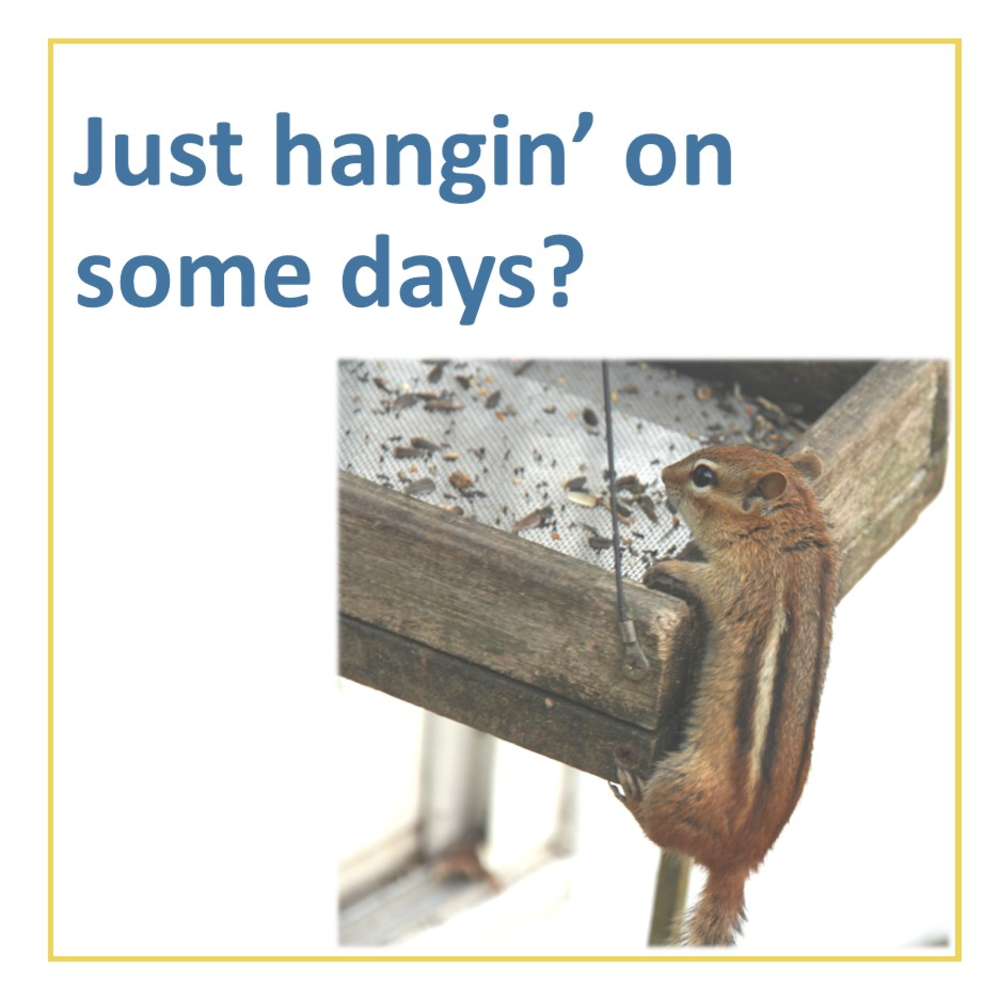 Just hangin' on some days?