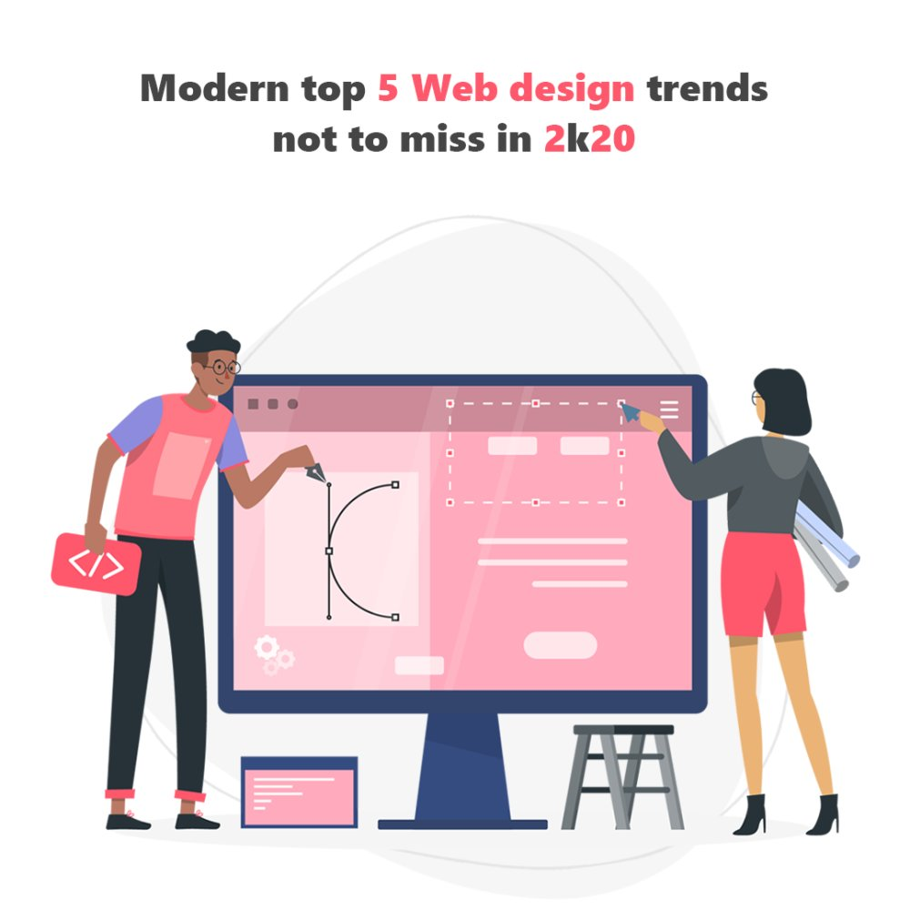 Modern Top 5 Web Design Trends not to Miss in 2020