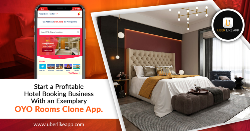 Start a profitable hotel booking business with an exemplary OYO rooms clone app.