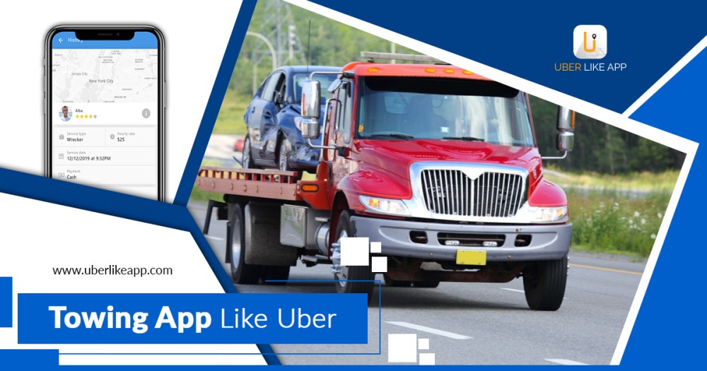 How can a towing app like Uber help with your roadside assistance service