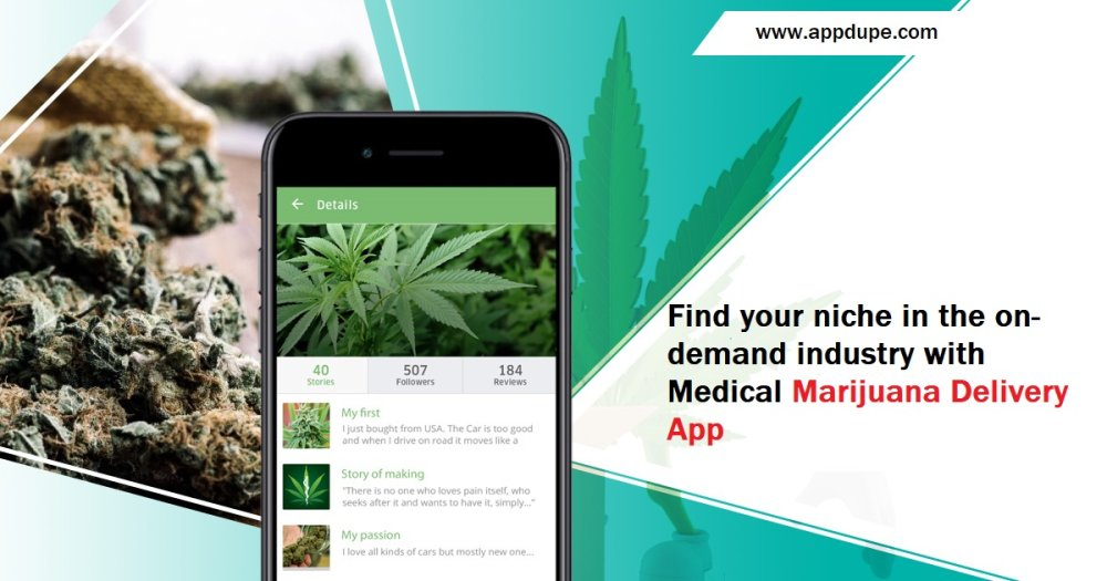 Find your niche in the on-demand industry with Medical Marijuana Delivery App