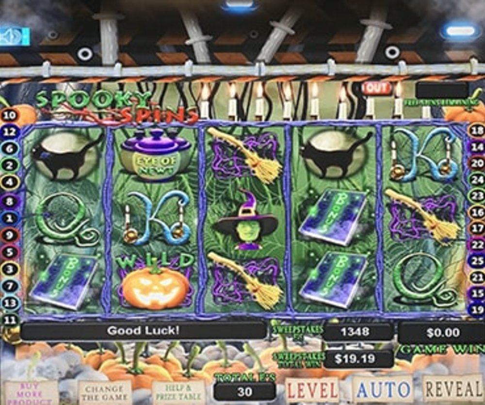 Spooky Spins - Sweepstakes Machine, Slot Game Shop - El Paso Texas