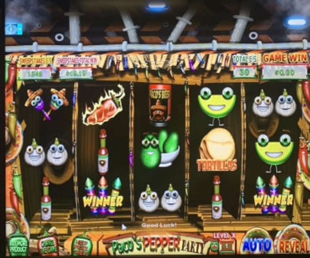 Paco And The Popping Peppers - Sweepstakes Machine, Slot Game Shop - El Paso Tex