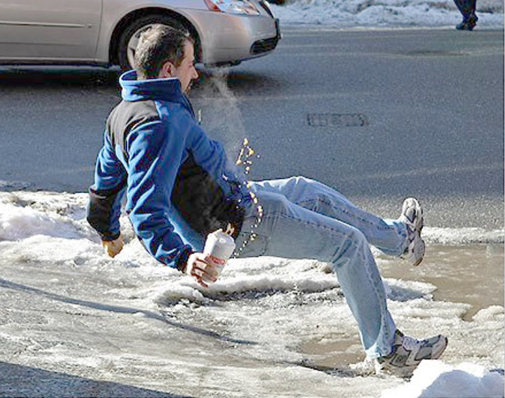 Three Common Injuries from Falling on Ice