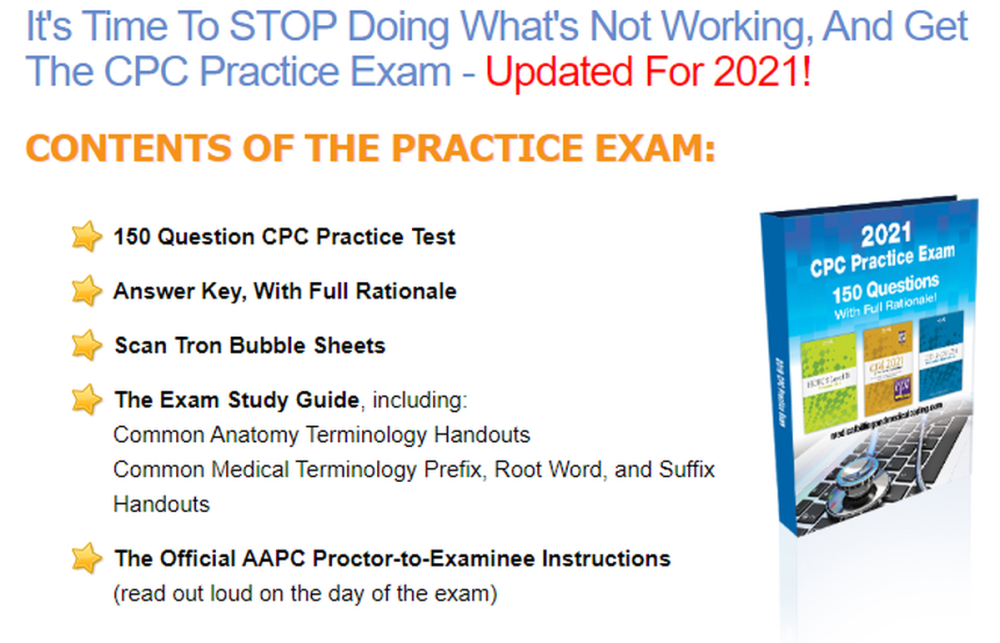 Never Fail Your CPC Practice Exam 2021!