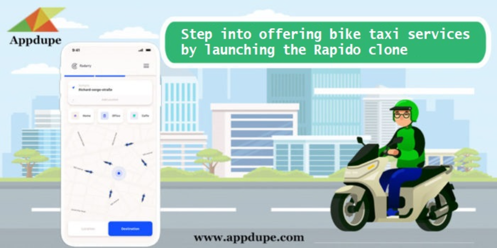 Step into offering bike taxi services by launching the Rapido clone