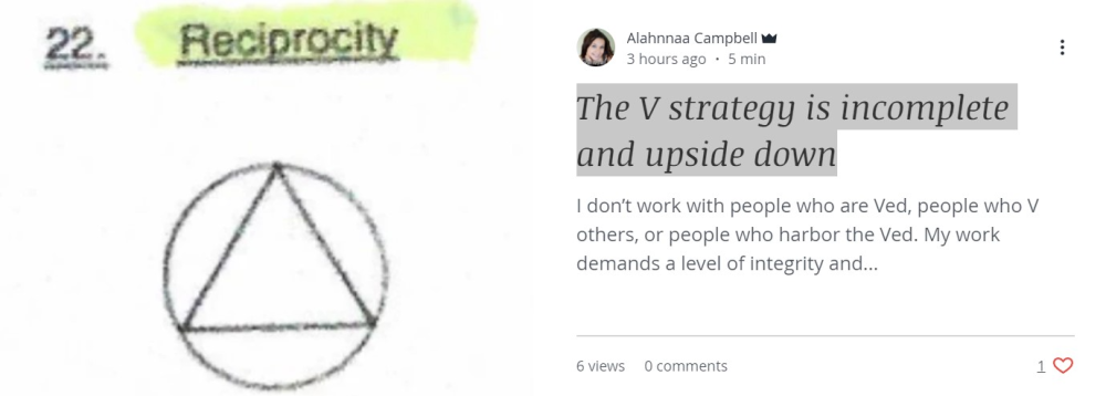 The V strategy is incomplete and upside down
