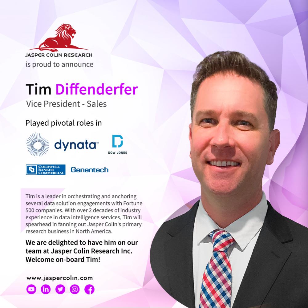 Tim Diffenderfer Joins Jasper Colin Research