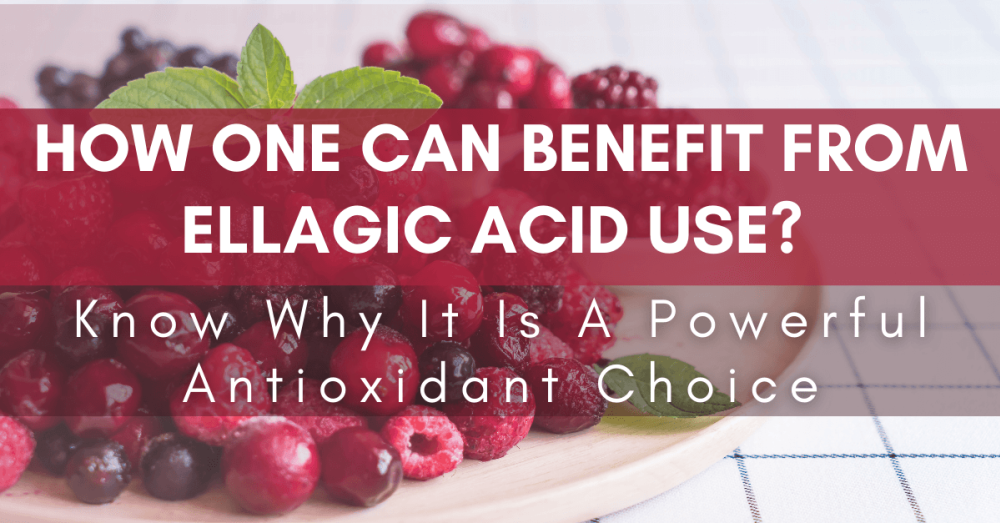 How One Can Benefit From Ellagic Acid Use? Know Why It Is A Powerful Antioxidant