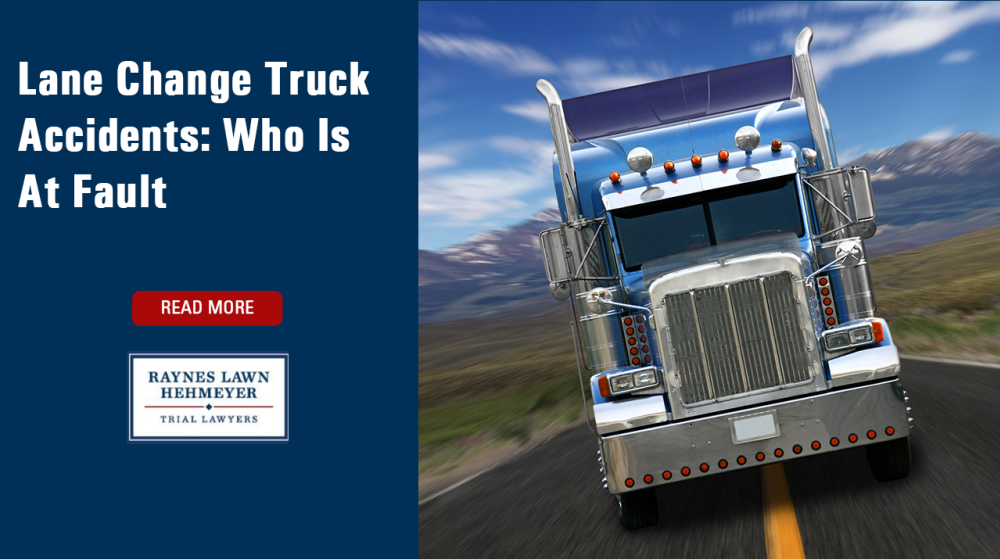 Lane Change Truck Accidents: Who Is At Fault