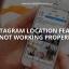 Instagram-locatiefunctie werkt niet goed