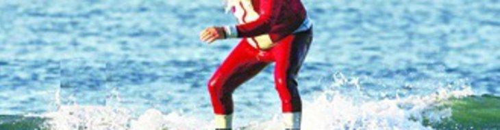 Christmas Florida Style: Surfing Santas