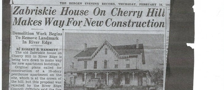 About a Penthouse Apartment Never Built On Cherry Hill at the old Zabriskie Farm