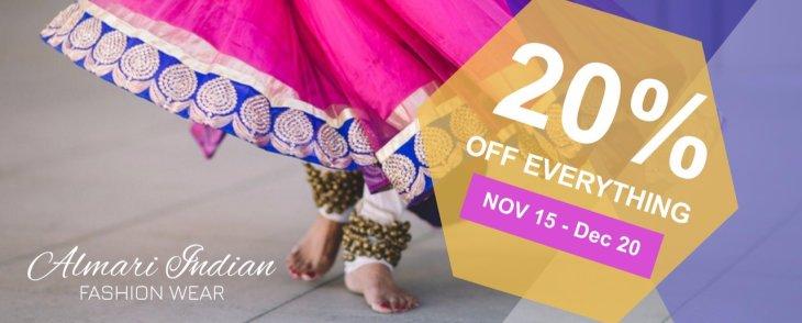 20% OFF November 15 to December 20!