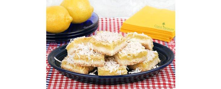Coconut Sugar Lemon Squares