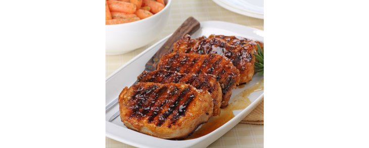 Coconut Jam Pork Chops