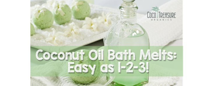 Coconut Oil Bath Melts: Easy as 1-2-3!