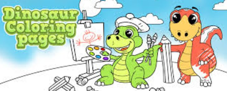 Have Fun With Cartoon Dinosaur Coloring Pages For Kids
