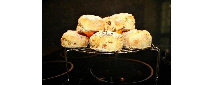 Coconut Flour Scones with Orange Glaze