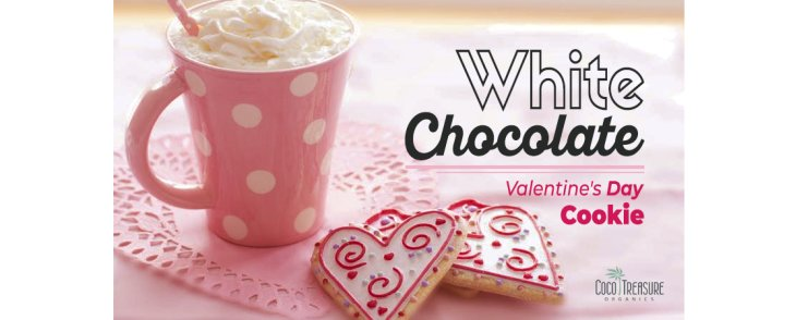 White Chocolate Valentine's Day Cookie