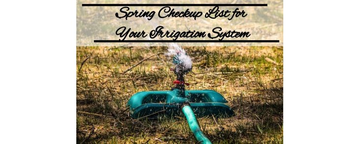 Spring Checkup List for Your Irrigation System