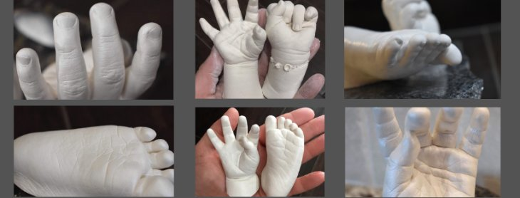 Life Casting - a 3D Exact Replica Of Your Precious Baby's Hand Or Foot.