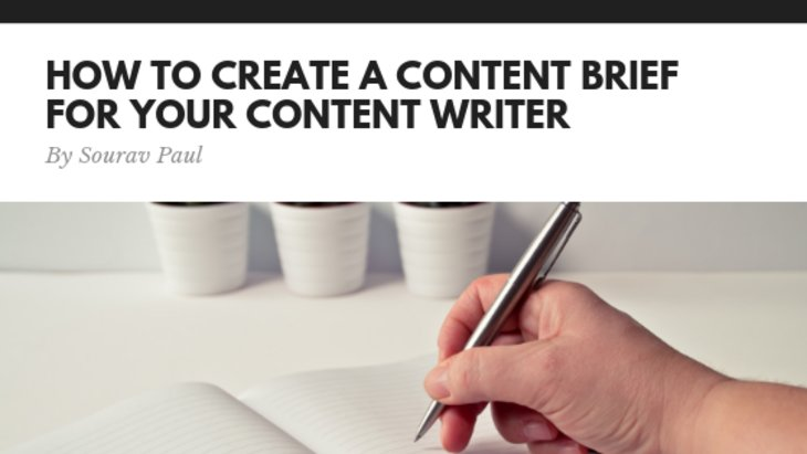 How to create a content brief for your content writer
