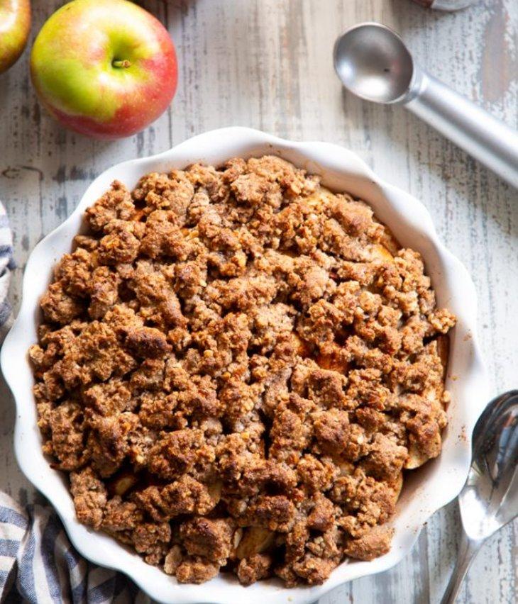 Paleo Maple Pecan Apple Crisp (Grain Free, Gluten Free and Dairy Free )