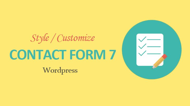 how to customize contact form 7 in wordpress