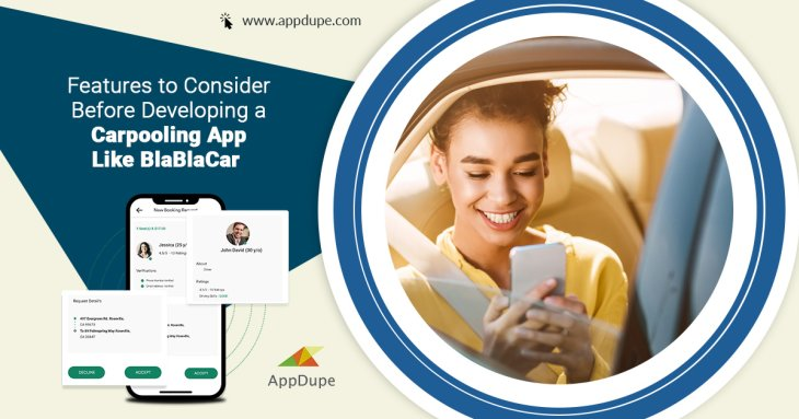 Features to consider before developing a carpooling app like BlaBlaCar