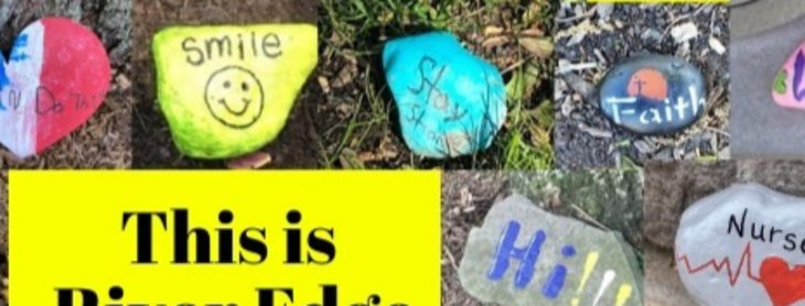 River Edge's Rocks of Kindness and Hope