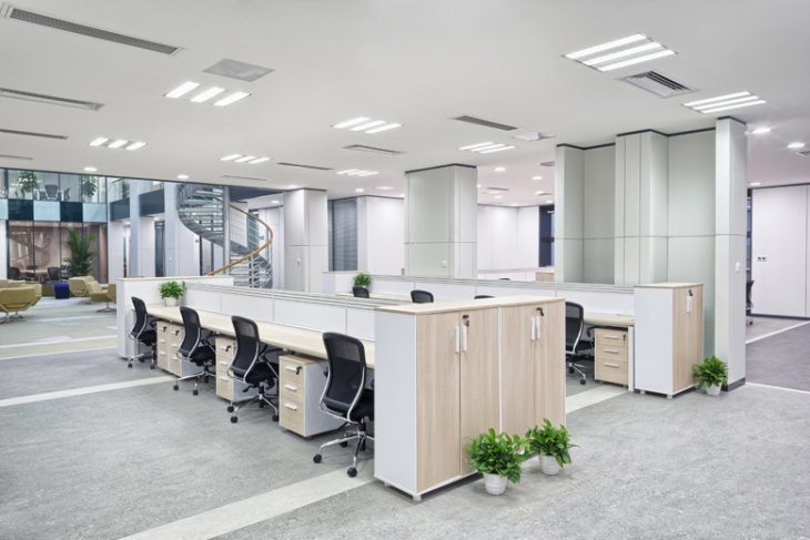 How often should you clean the grout on floors in your office or home?