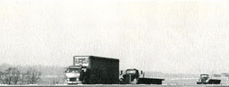 Traveling on the NJ Turnpike - 1950's style
